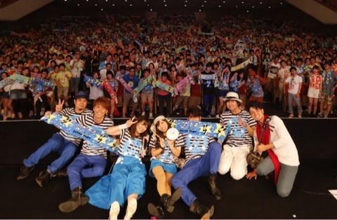 7!!渋谷公会堂でのライブ写真