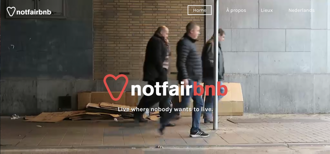 Airbnb?ベルギーNGO ホームレス問題啓発のアイディア「Notfairbnb」