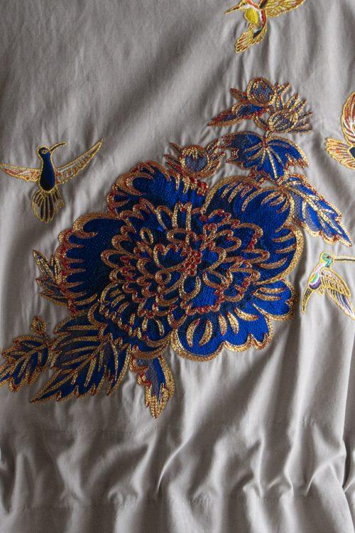 レインメーカーと現代の琳派による豪華絢爛なミリタリージャケット