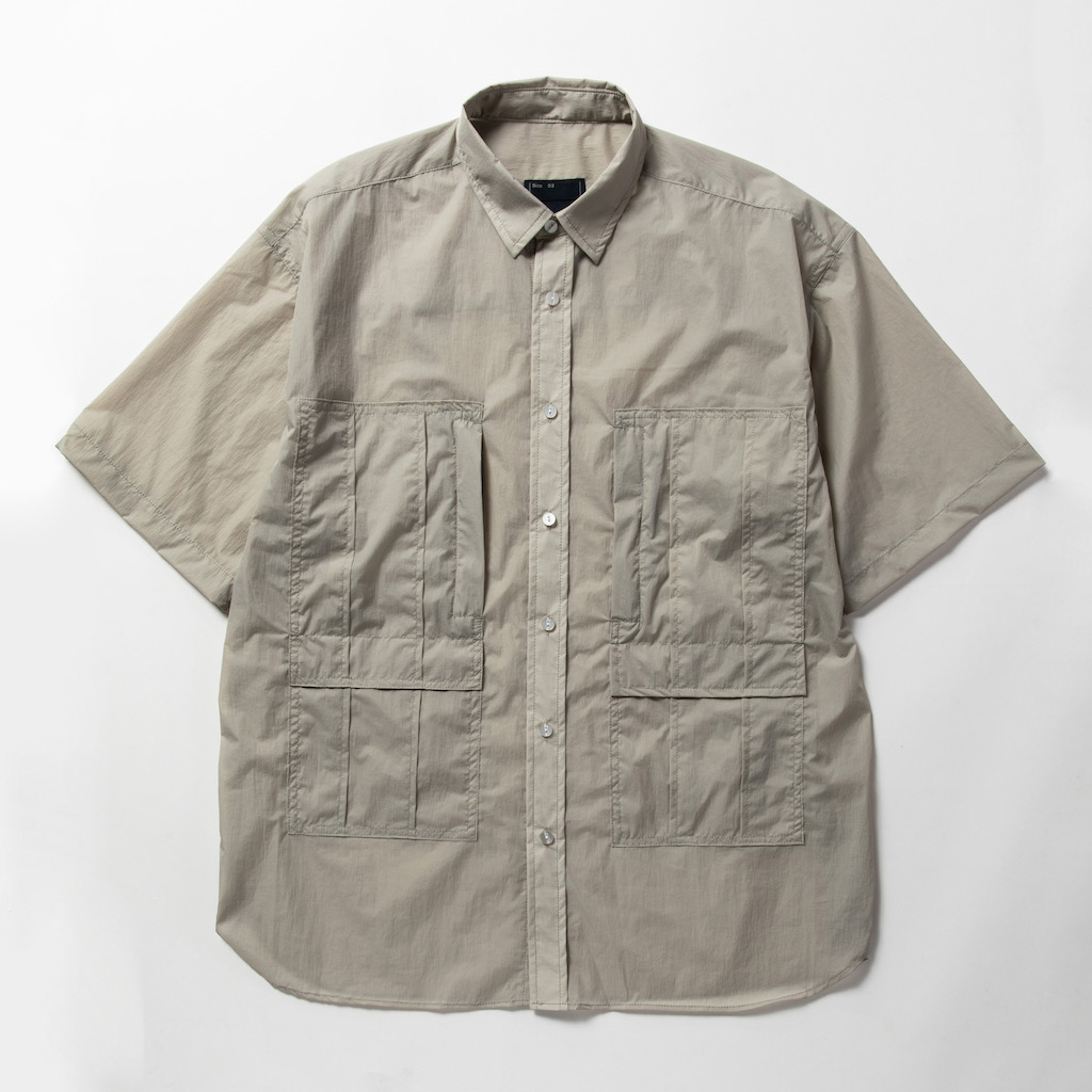 meanswhile,ミーンズワイル,半袖シャツ,ショートスリーブシャツ,S/S SH,SH,軽量,マイクロリップ,トリニティシャンブレー,超軽量マイクロリップ,