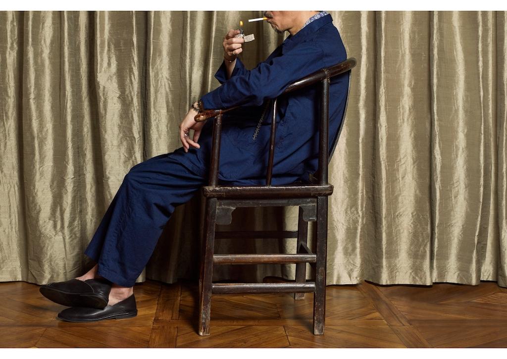 エキゾチックフレンチなポストオーバーオールズのチャイナジャケット