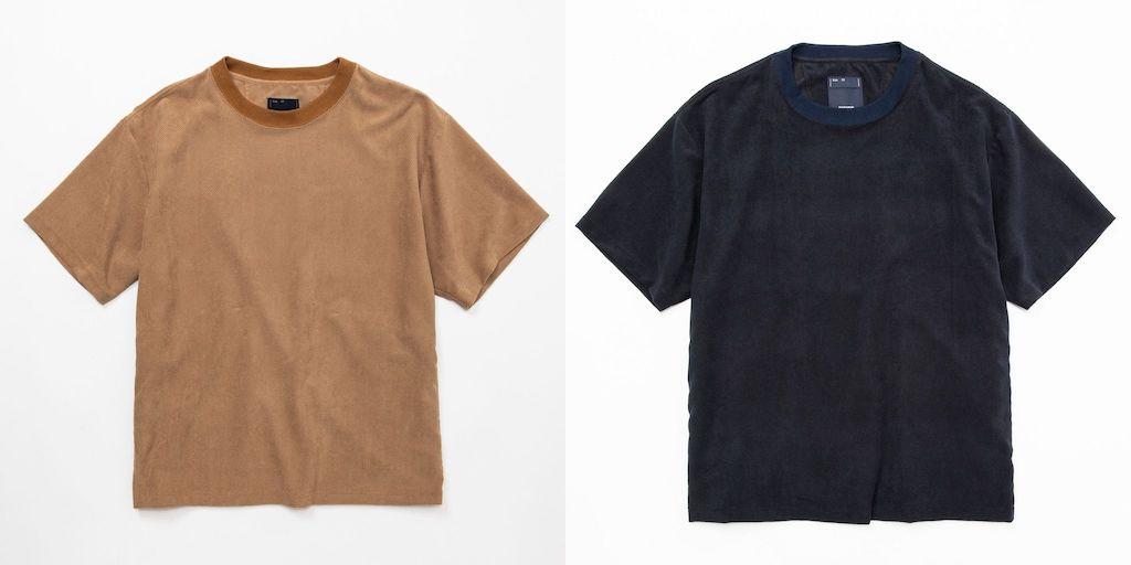 ミーンズワイル「ベロアメッシュが生み出す保温力」サイドポケットTシャツ